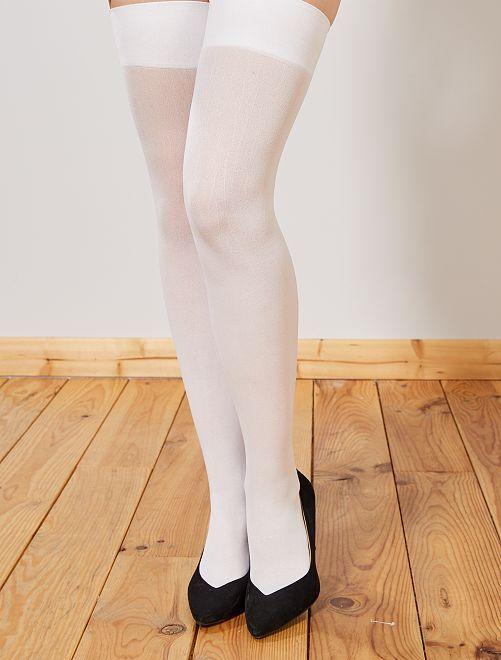 Calze tinta unita                             bianco
