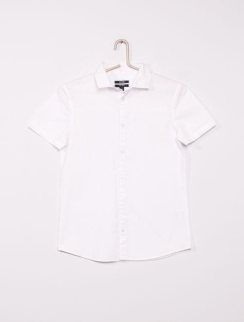 Camicia a maniche corte                             bianco