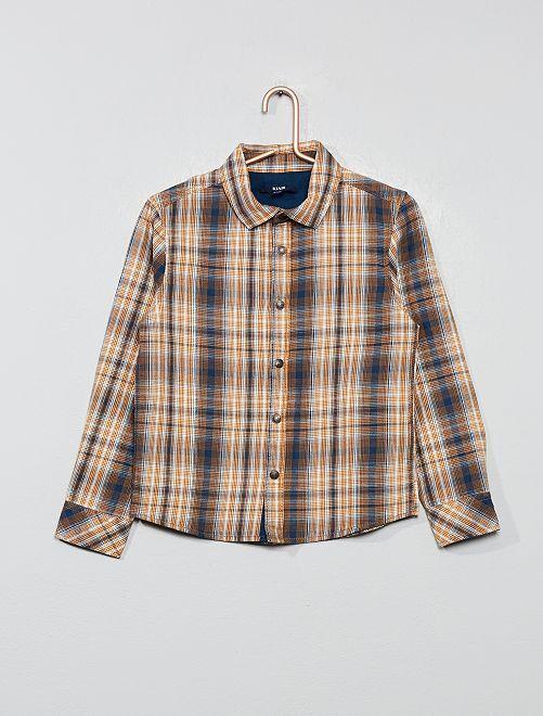 Camicia a quadretti                                                                 ARANCIONE Infanzia bambino