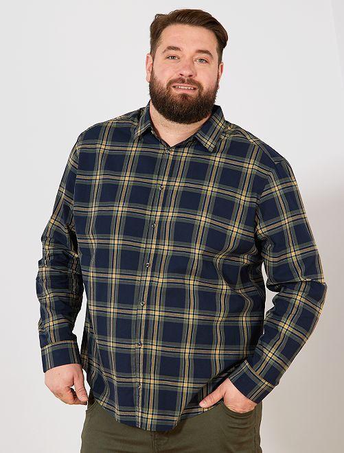 Camicia a quadretti                             BLU