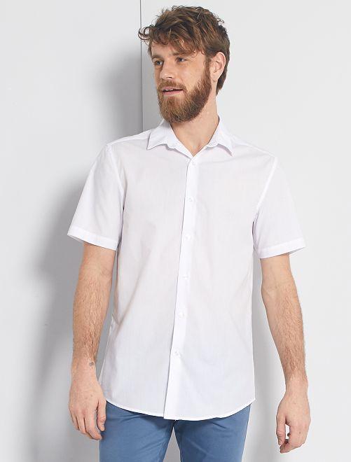 Camicia bianca a maniche corte                             bianco