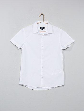 Camicia bianca popeline - Kiabi