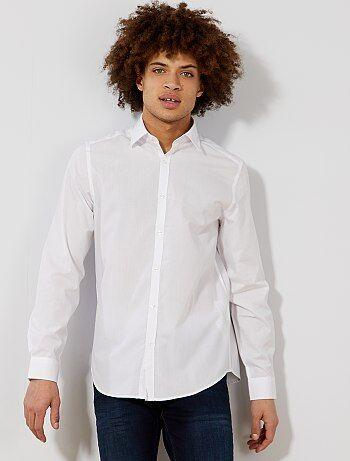 Camicia bianca tinta unita taglio dritto - Kiabi