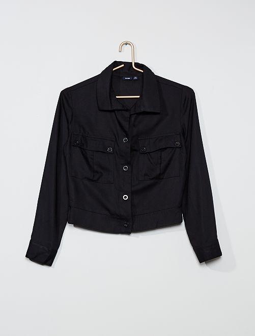 Camicia cargo                                         nero