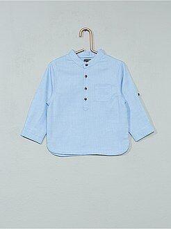 Camicie - Camicia Chambray collo alla coreana - Kiabi