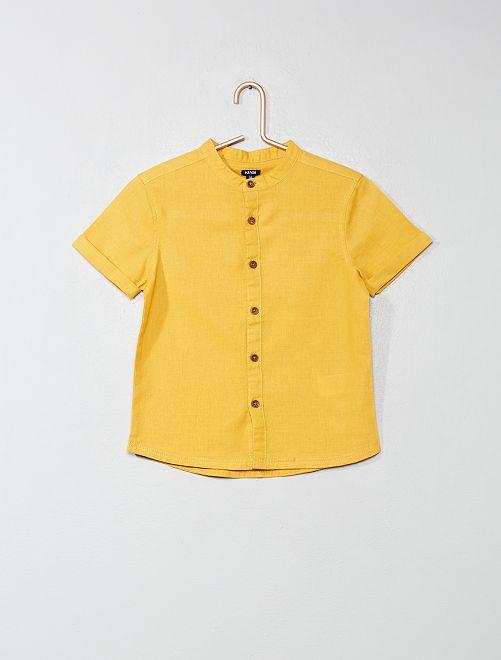 Camicia colletto alla coreana                                                                 GIALLO Infanzia bambino