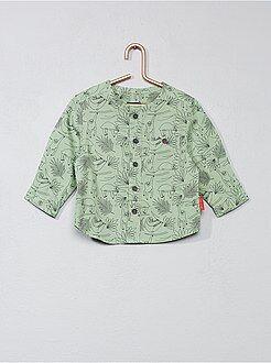 Camicie - Camicia collo alla coreana cotone stampato - Kiabi