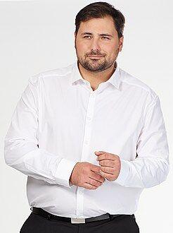 Camicia comfort cotone testurizzato