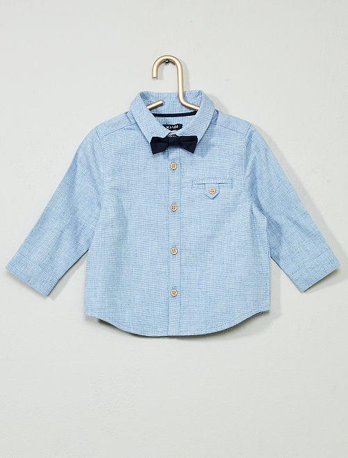 Camicia con farfallino                             BLU