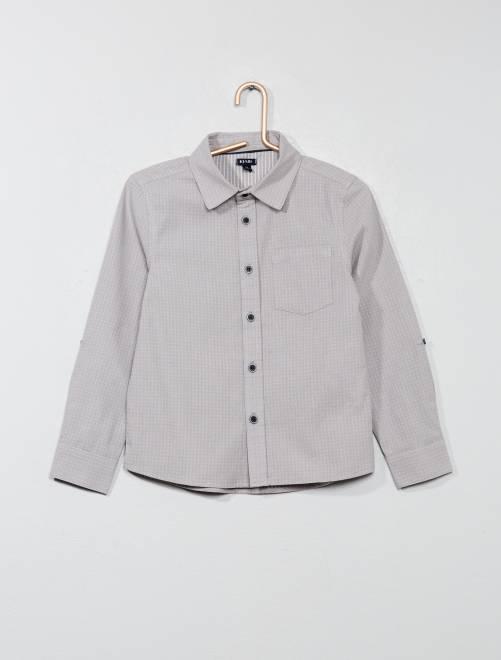 Camicia con motivi                             grigio chiaro Infanzia bambino