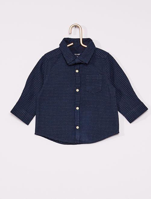 Camicia con papillon ecosostenibile                             blu