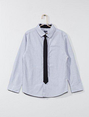 Camicia cotone + cravatta - Kiabi