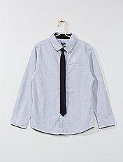 Camicia cotone + cravatta