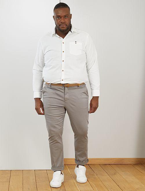 Camicia cotone Oxford                                         bianco