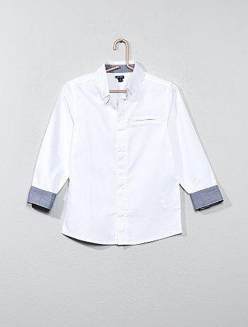 Camicia cotone testurizzato - Kiabi