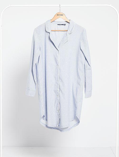 Camicia da notte a righe                             BLU