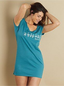 Camicie da notte - Camicia da notte cotone con stampa