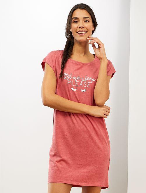 Camicia da notte eco-sostenibile                                                                             ROSA