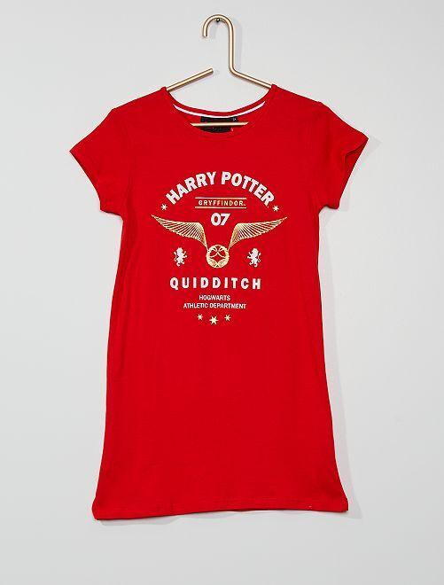 Camicia da notte 'Harry Potter'                             rosso
