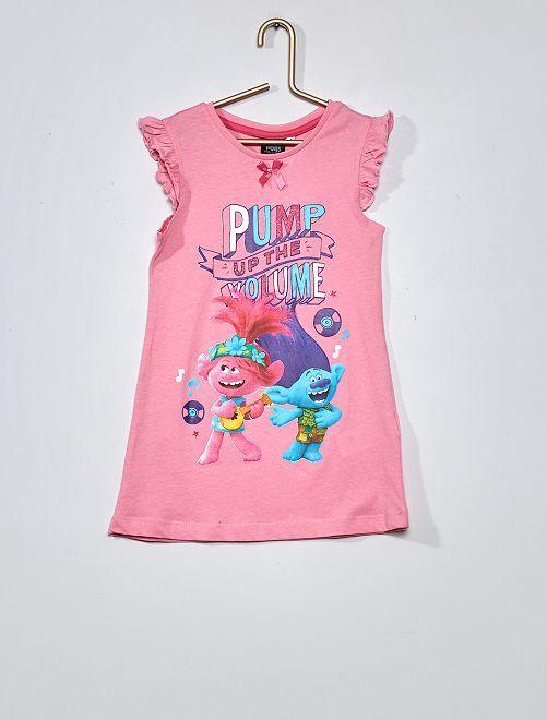 Camicia da notte in puro cotone 'Trolls' 'DreamWorks'                     rosa