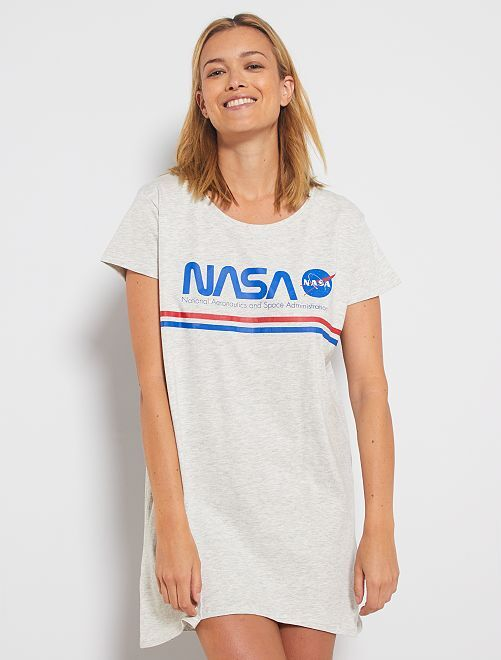 Camicia da notte 'N.A.S.A.'                                         grigio