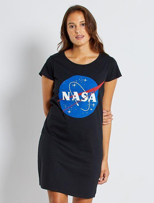 Camicia da notte 'NASA'                             nero
