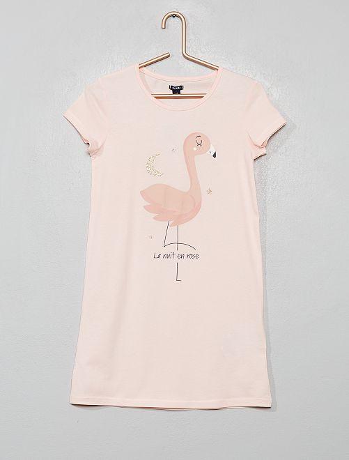 Camicia da notte stampata                                         ROSA