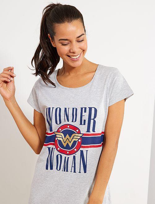 Camicia da notte 'Wonder Woman'                             grigio