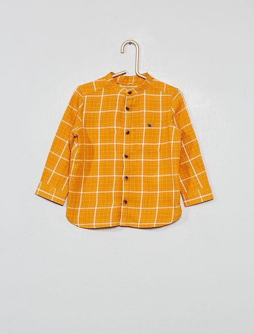 Camicia di flanella a quadretti                             GIALLO