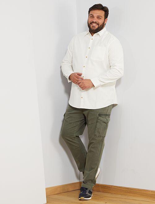 Camicia di velluto                                                     bianco neve