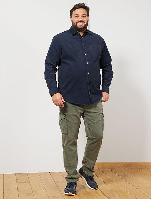 Camicia di velluto                                                     BLU