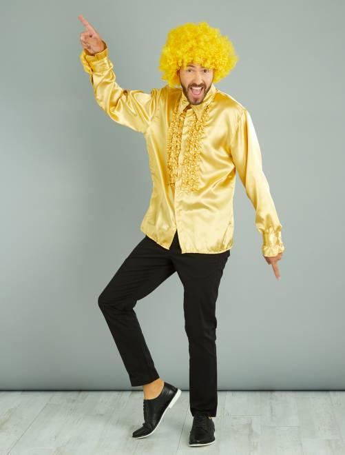 Camicia disco music satinata                                                                 dorato