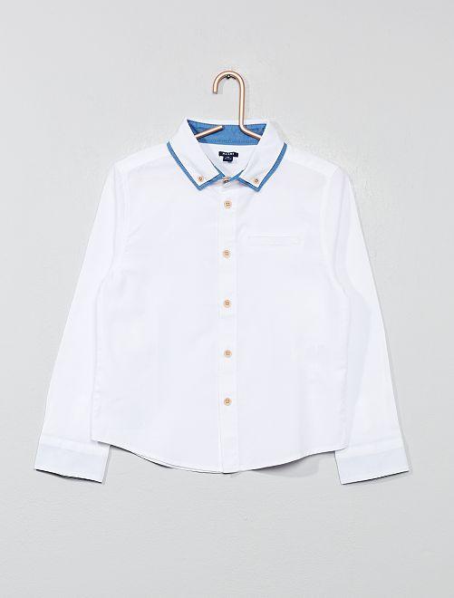 Camicia doppio colletto                                         bianco