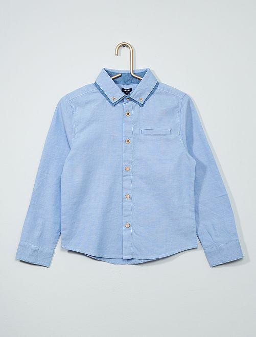 Camicia doppio colletto                                         BLU