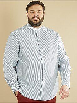 Camicie - Camicia dritta a righe collo alla coreana - Kiabi