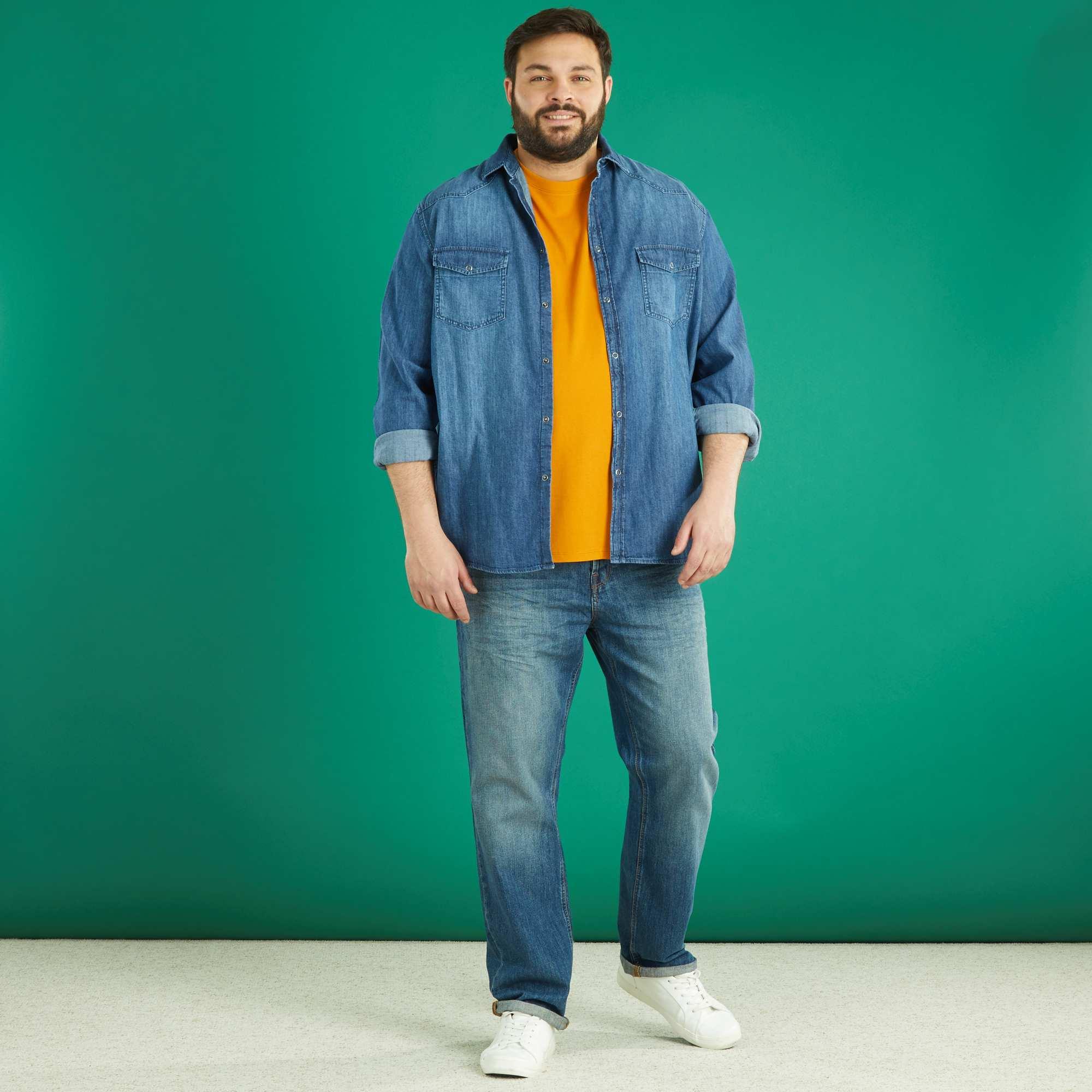 Uomo Bologna Camicia Taglie Guide Jeans Forti Italian OZikXuP