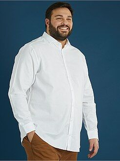 Camicie - Camicia dritta piqué di cotone - Kiabi