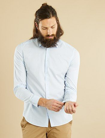 Camicia fitted popeline a righe - Kiabi