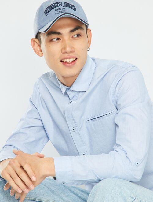 Camicia in chambray                             BLU