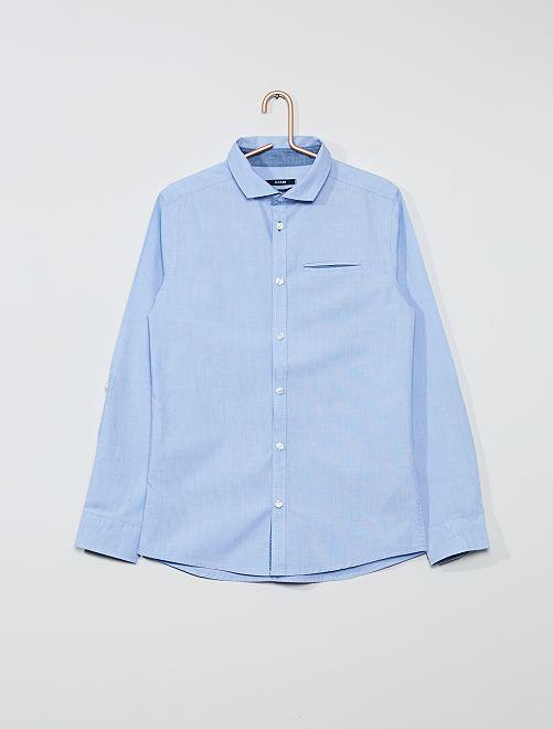 Camicia in cotone                             BLU