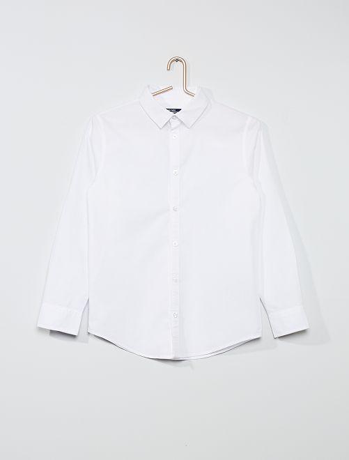 Camicia in cotone oxford                             bianco