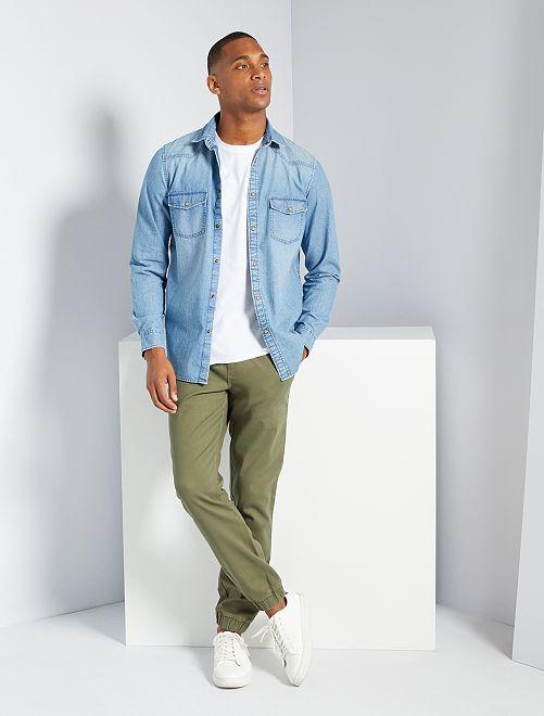 Camicia in jeans                             stone