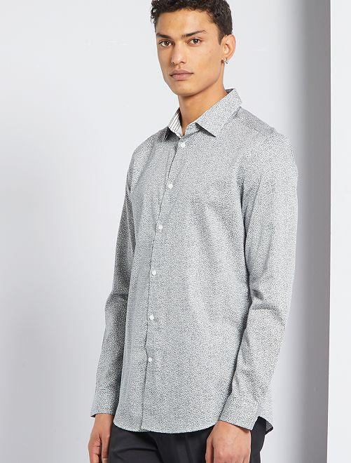 Camicia in popeline                                         GRIGIO