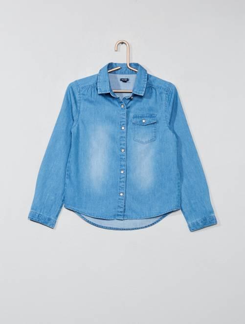 Camicia jeans                             BLU Infanzia bambina