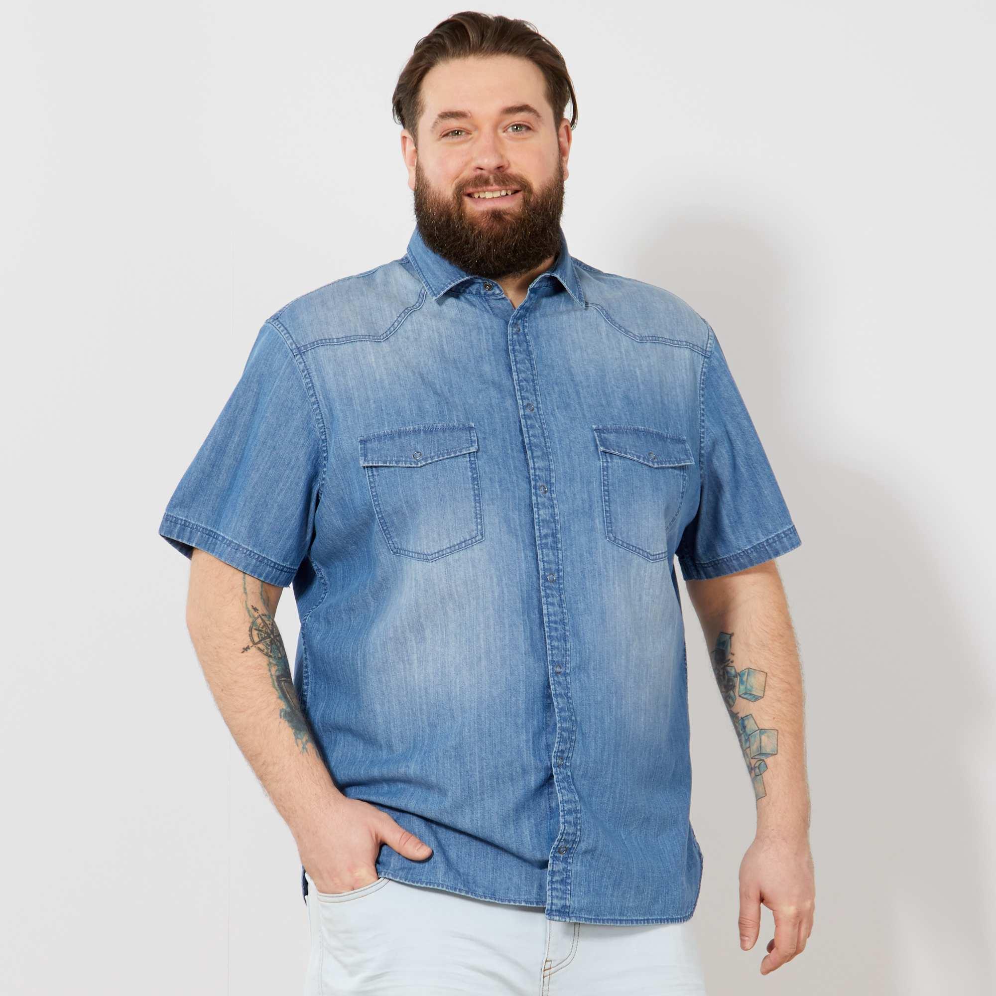 5cde8af741f6 Camicia jeans regular Taglie forti uomo - BLU - Kiabi - 15