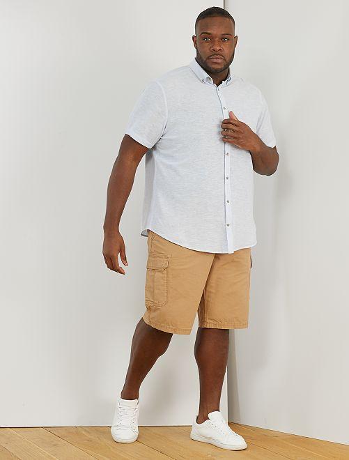 Camicia lino e cotone                                                                 BLU