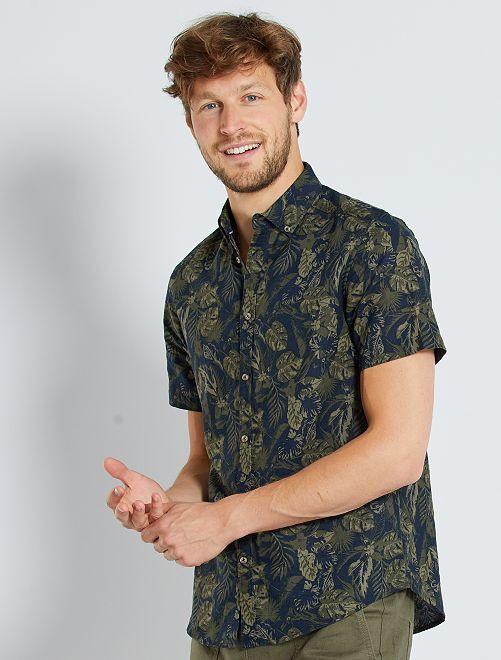 Camicia lino e cotone                                                                 KAKI