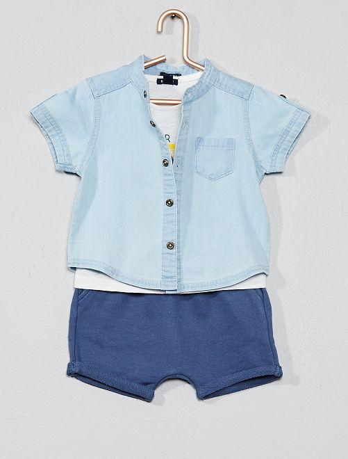 Camicia + maglietta + bermuda                             BIANCO Neonato