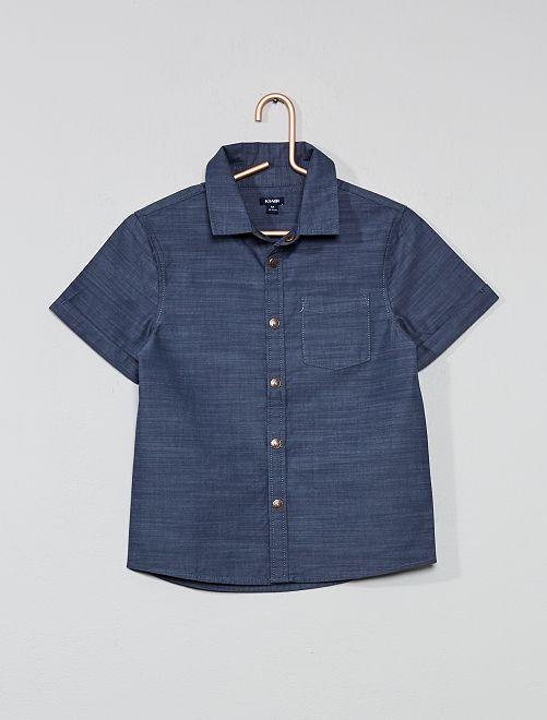 Camicia maniche corte                                         BLU Infanzia bambino