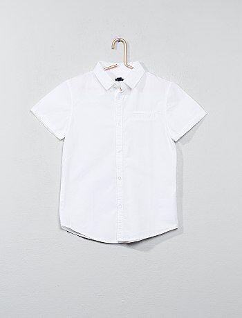 Camicia maniche corte popeline cotone - Kiabi